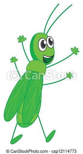 A smiling grasshopper - csp12114773