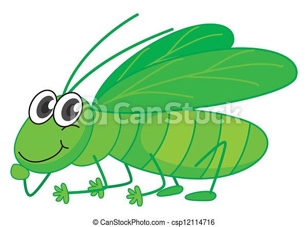 A smiling grasshopper - csp12114716