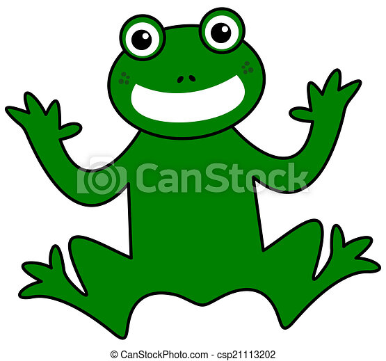 a smiling green frog - csp21113202