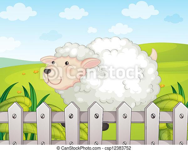 A smiling sheep - csp12383752