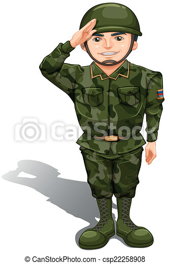 illustration of a smiling soldier doing a hand salute on a vector rh canstockphoto com soldier clipart png soldier clipart png