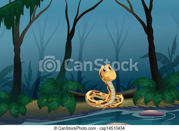 A snake near the pond - csp14510434