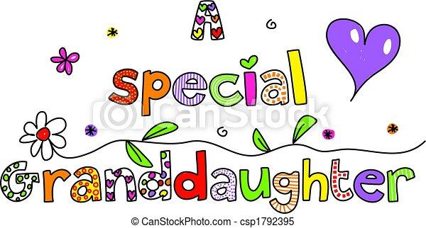 a special granddaughter - csp1792395