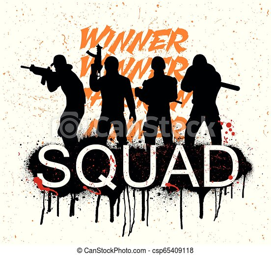 A Squad Of 4 Player Pubg