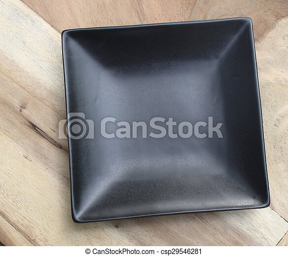 A square plate on the table - csp29546281 & A square plate on the table .
