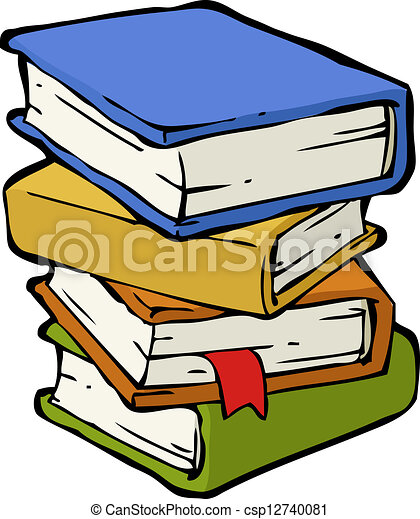 A stack of books - csp12740081