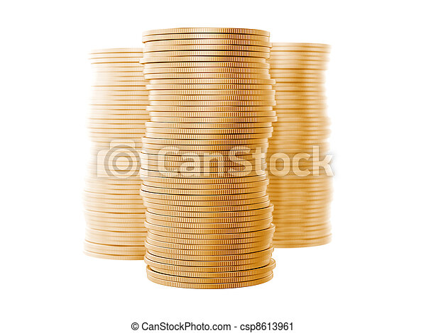 A stack of coins - csp8613961