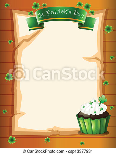 A stationery designed for St. Patrick's day - csp13377931