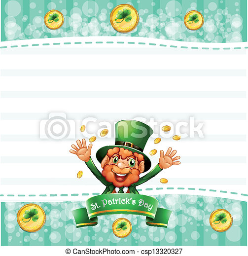 A stationery for St. Patrick's day with an old man - csp13320327