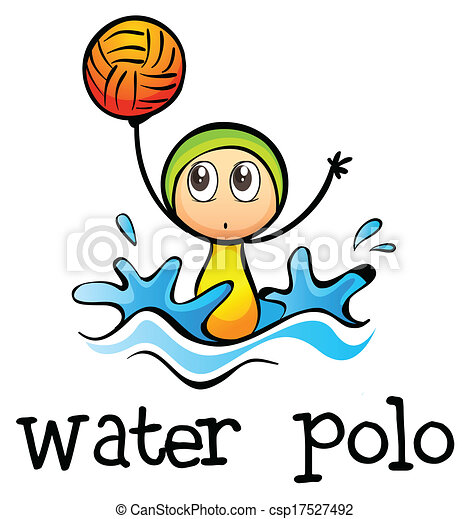 illustration of a stickman playing water polo on a white eps rh canstockphoto com water polo images clip art water polo player clipart