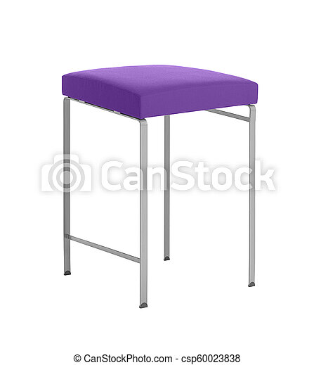 A stool isolated on a white background - csp60023838
