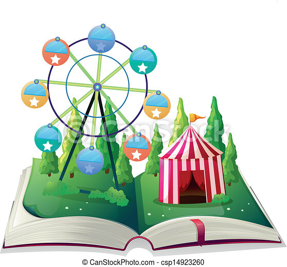 A storybook with a carnival - csp14923260