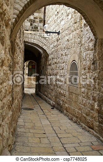 A street in the old city jerusalem - csp7748025