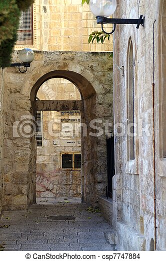 A street in the old city jerusalem - csp7747884