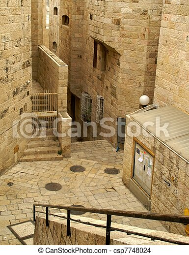 A street in the old city jerusalem - csp7748024