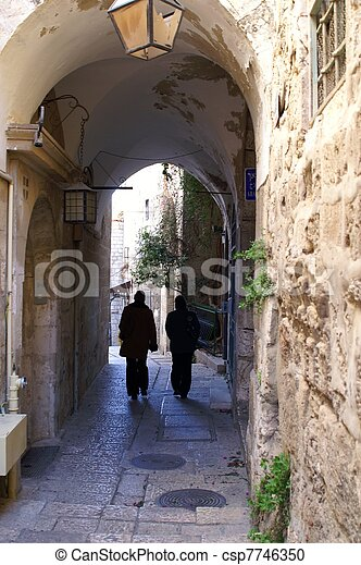 A street in the old city jerusalem - csp7746350