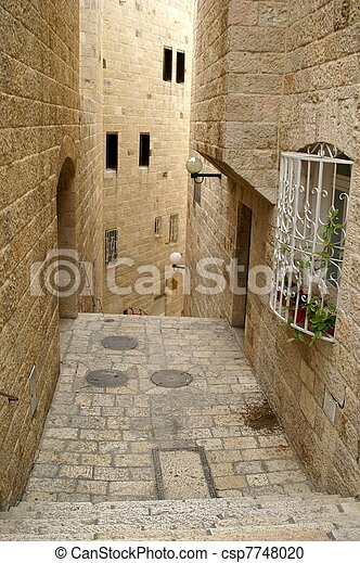 A street in the old city jerusalem - csp7748020