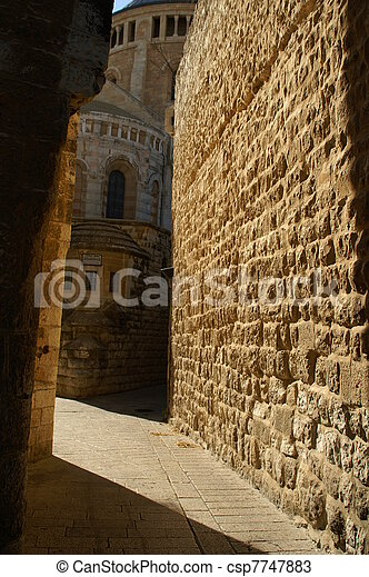 A street in the old city jerusalem - csp7747883