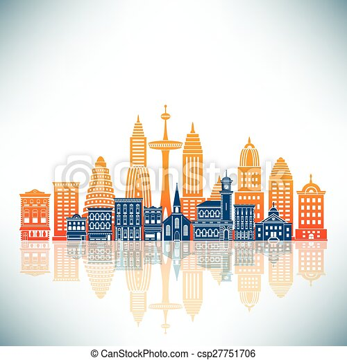 A Stylized City - csp27751706