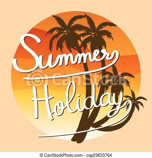 A summer holiday artwork - csp23633764