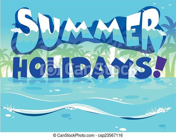 A summer holiday design - csp23567116