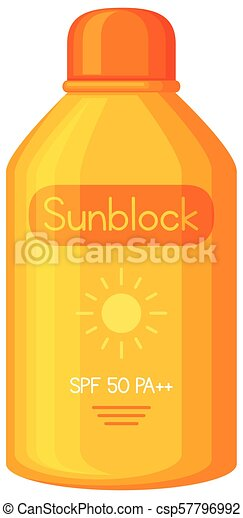 A Sunblock on White Background - csp57796992