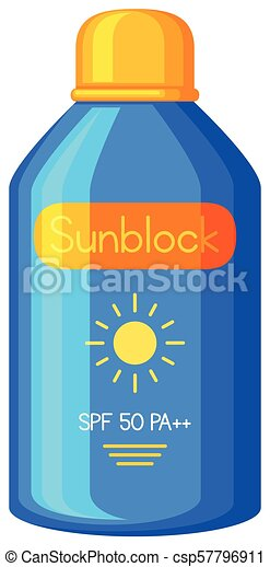 A Sunblock on White Background - csp57796911