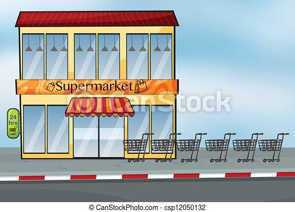 A supermarket near the street - csp12050132