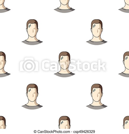 A sweaty man. The man is sweating from diabetes. Diabetes single icon in cartoon style vector symbol stock illustration. - csp49426329