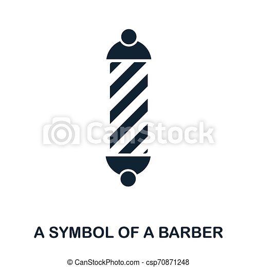 A Symbol Of A Barber icon. Flat style icon design. UI. Illustration of a symbol of a barber icon. Pictogram isolated on white. Ready to use in web design, apps, software, print. - csp70871248