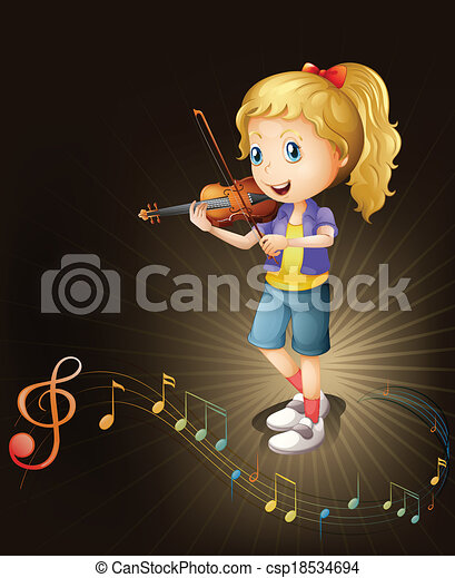 A talented violin player - csp18534694