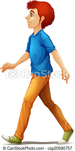 illustration of a tall man walking on a white background clipart rh canstockphoto com man walking clipart person walking clipart free