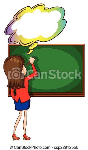 Writing Clipart For Teachers A teacher writing at t...