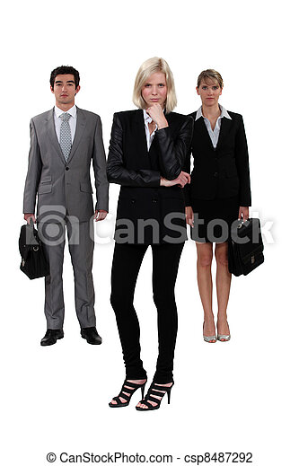 A team of ambitious business professionals - csp8487292