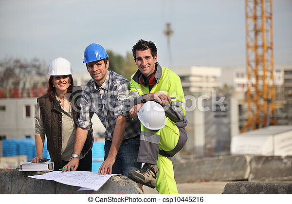 A team of construction workers - csp10445216
