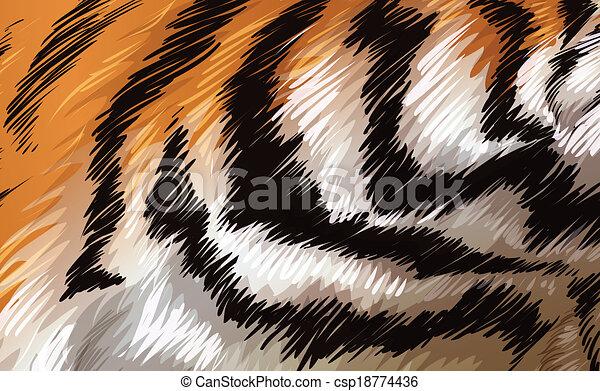 A tiger texture - csp18774436