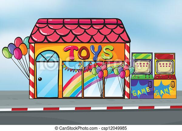 A toy shop - csp12049985