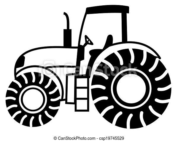 a tractor shadow - csp19745529