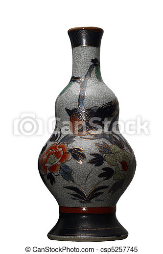 A Traditional Chinese China Vase Used For Decoration