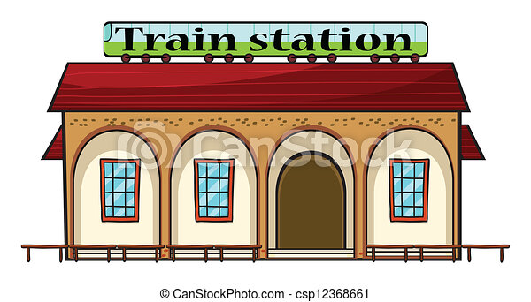 a train station illustration of a train station on a white background rh canstockphoto com train station sign clipart train station clipart images
