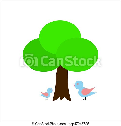 A tree with two birds - csp47246725