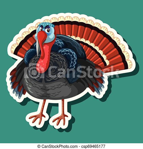 A turkey sticker character - csp69465177
