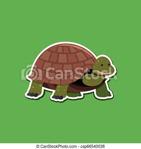 A turtle character sticker - csp66540038