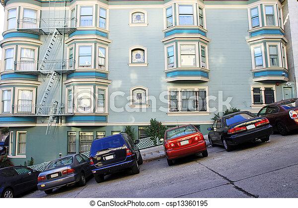A typical San Francisco road - csp13360195