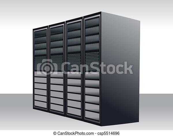 a unique server station  - csp5514696