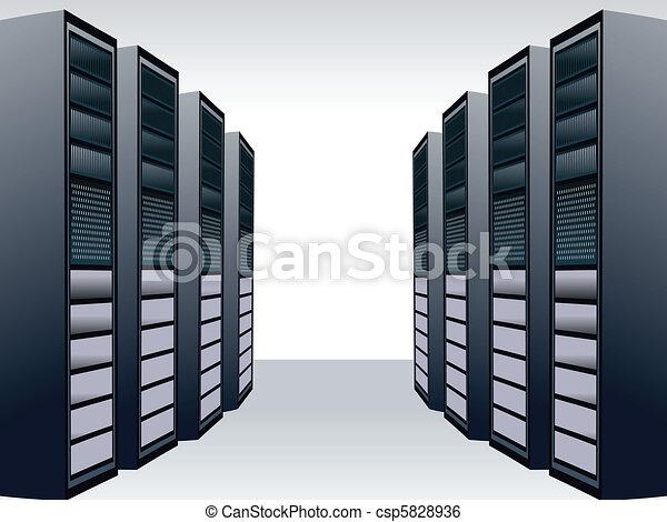 a unique server station  - csp5828936