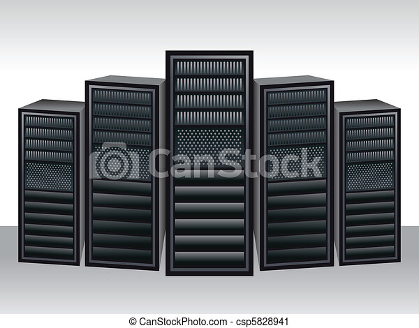 a unique server station  - csp5828941