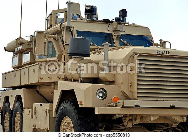 A U.S Navy MRAP Vehicle - csp5550813