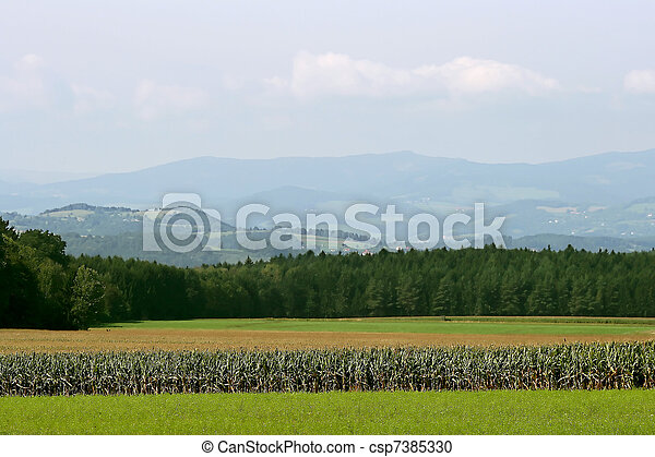 A valley in Austrian Alps - csp7385330