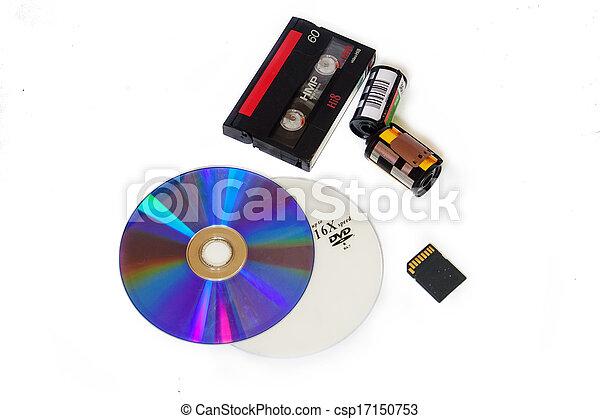 A variety of storage media - csp17150753